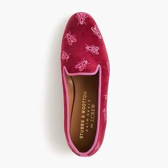 J.Crew Stubbs & Wootton® swarm garnet loafers