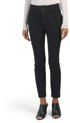 Petite 3 Button High Waist Skinny Jeans