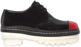 Marni 50mm Brushed Leather Lace-Up Shoes