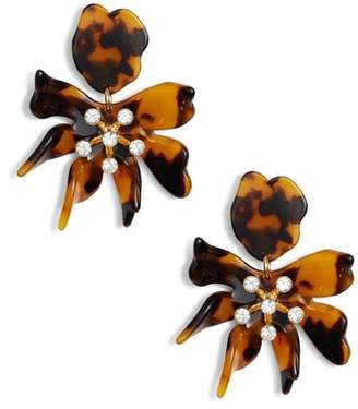 Lele Sadoughi Daffodil Clip Drop Earrings
