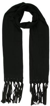 John Varvatos Wool Fringe Scarf w/ Tags $125 thestylecure.com
