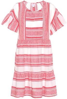 Velvet Striped cotton dress
