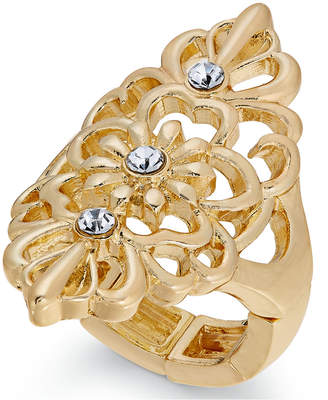 Thalia Sodi Gold-Tone Crystal Filigree Ring, Created for Macy's