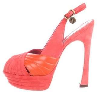 Saint Laurent Suede Slingback Sandals