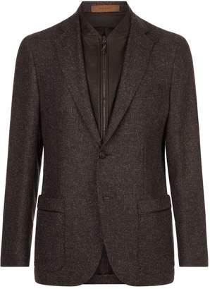 Corneliani Leather Trim Blazer