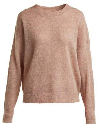 Etoile Isabel Marant Cliftony Mohair Blend Sweater - Womens - Light Pink