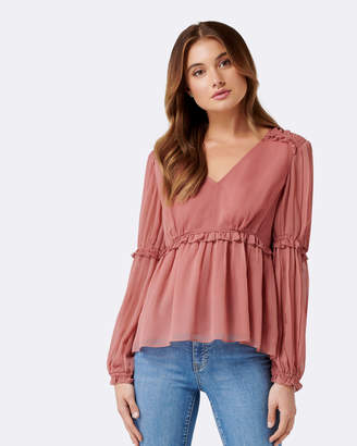 Forever New Bella Gather & Frill Blouse