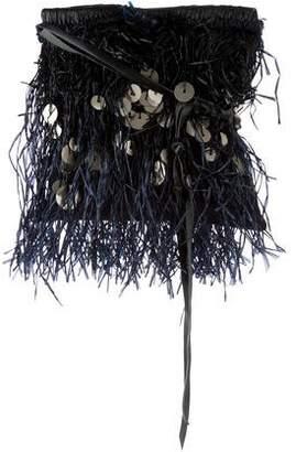 Lanvin Straw-Fringed Shoulder Bag