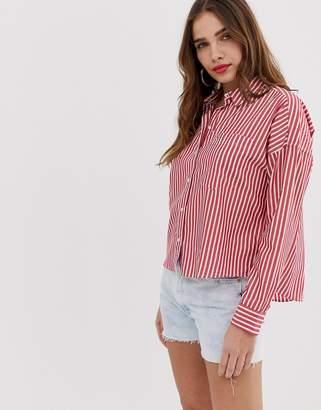 aceec18e Tommy Jeans fluid cropped boxy shirt with sustainable fibres