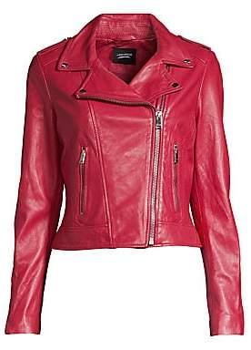LAMARQUE Women's Leather Biker Jacket