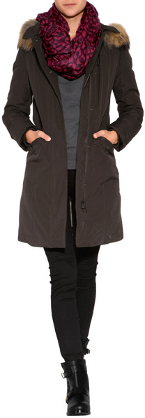 Woolrich Vail Parka in Wood Brown