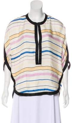 Etoile Isabel Marant Striped Silk Blouse
