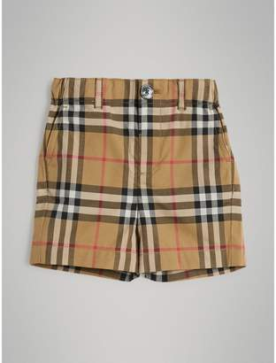 Burberry Childrens Vintage Check Cotton Shorts