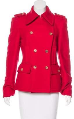 Michael Kors Double-Breasted Virgin Wool Jacket
