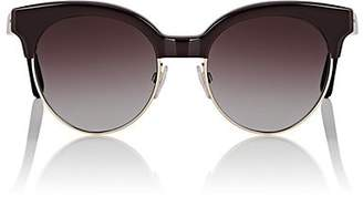 Balenciaga Women's BA 128 Sunglasses - Gradient Burgundy