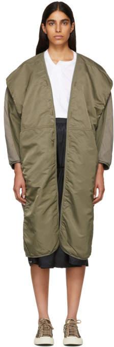 Green Kimono Mil Coat