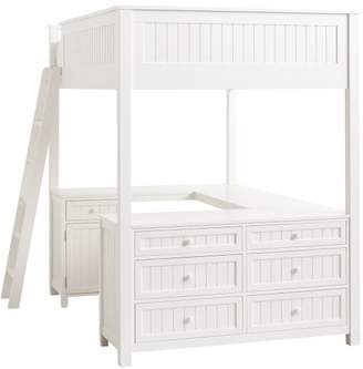 Pottery Barn Teen Beadboard Loft Bed 2.0 Re-Engineer, Full, Water-Based Simply White