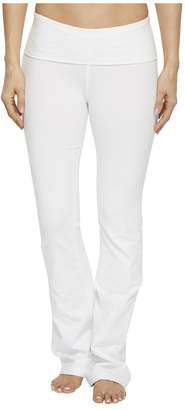 Hard Tail Rolldown Bootleg Flare Pants Women's Casual Pants