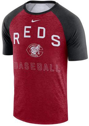Nike Men Cincinnati Reds Dry Slub Short Sleeve Raglan T-Shirt