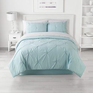 The Big One Reversible Pinch Pleat Comforter Set