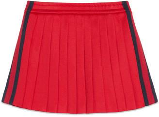 Children's pleated tech jersey skirt $280 thestylecure.com