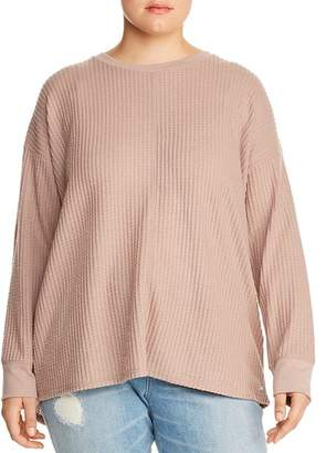 Andrew Marc Plus Waffle-Knit Top
