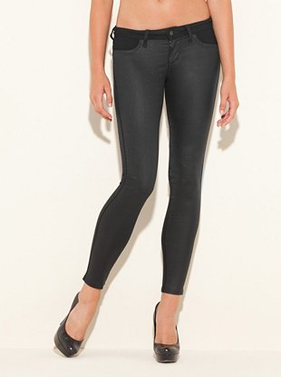 Biker Power Skinny Jeans with Rinse