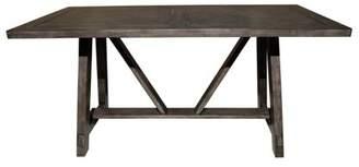 HomeFare Farmhouse Style Trestle Dining Table
