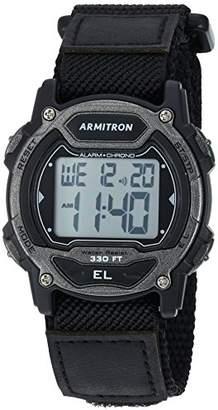 Armitron Sport Unisex 45/7004GBK Digital Chronograph Nylon Strap Watch