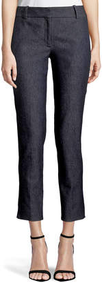 Theory Classic Straight-Leg Cropped Denim Trousers