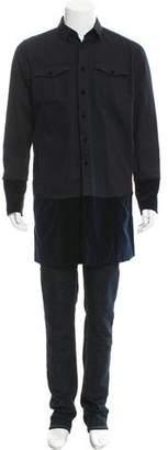 Sacai Velvet-Trimmed Shirt Jacket w/ Tags