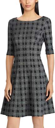 Chaps Women's Checked Fit & Flare Dress