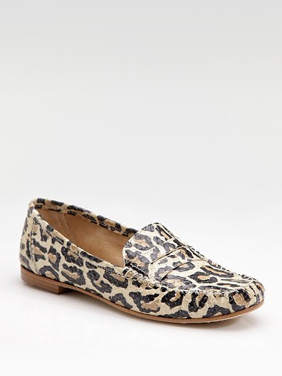 Brian Atwood Hampton Printed Snakeskin Loafers