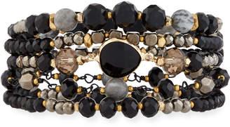 Nakamol Multi-Strand Crystal Magnetic Bracelet, Black