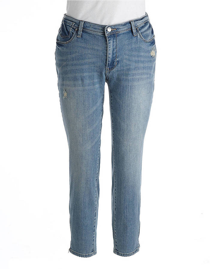 DKNY WOMENS Plus City Skinny Cropped Jeans