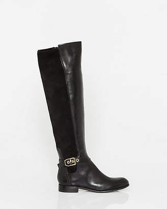 Le Château Leather & Elastic Panel Over-the-Knee Boot