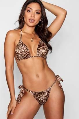 boohoo Leopard Triangle Bikini Set
