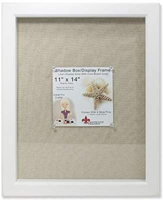 Lawrence Frames Shadow Box Frame with Linen Inner Display Board