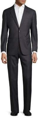 Armani Collezioni Slim Fit Pinstripe Virgin Wool Suit
