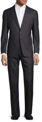 Armani Collezioni Slim Fit Pinstripe Virgin Wool Suit