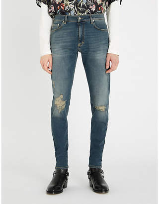 Represent Ripped regular-fit tapered jeans