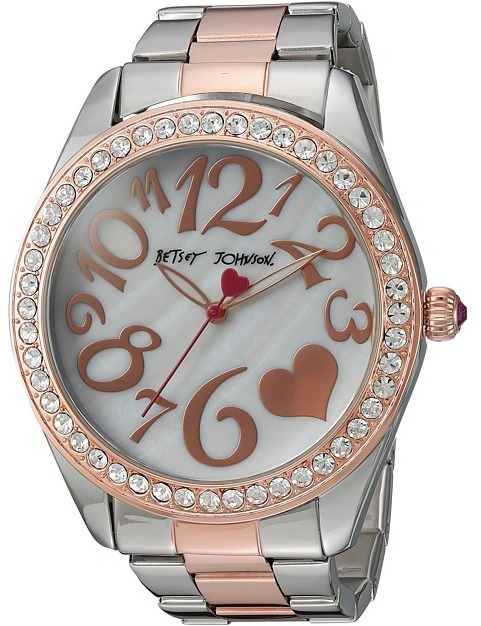 Betsey Johnson Betsey Johnson - BJ00249-39 - Two-Tone Heart Face Watches