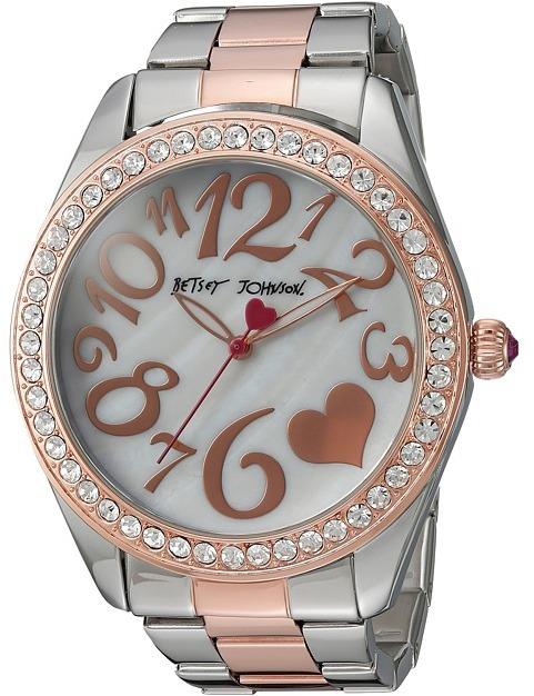 Betsey JohnsonBetsey Johnson - BJ00249-39 - Two-Tone Heart Face Watches