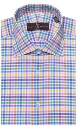 Robert Talbott Tailored Fit Plaid Dress Shirt