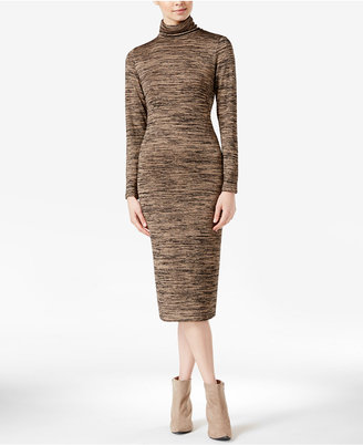 kensie Space-Dyed Turtleneck Midi Dress $79 thestylecure.com