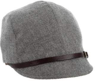 Eugenia Kim Grey Leather-Trimmed Hat