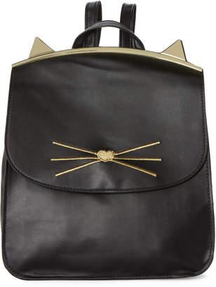 T-Shirt & Jeans T Shirt & Jeans Black Cat Flap Backpack