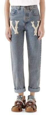 Gucci 80s Fit Crop Roll Ankle Jeans