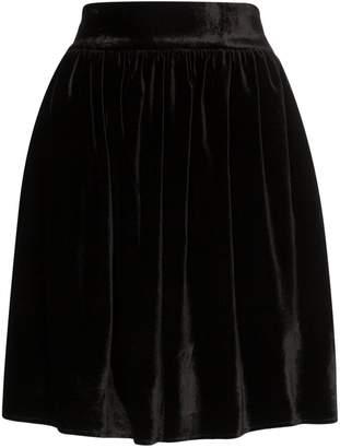 Michael Lo Sordo high-waisted velvet mini skirt
