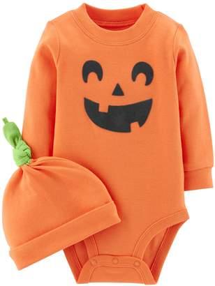 Carter's Baby Jack-o'-lantern Bodysuit & Cap Set